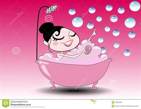 ragazze nella vasca ragazza nella vasca di bagno illustrazione vettoriale