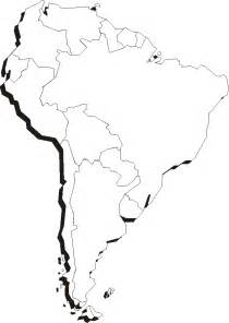 free south america blank map coloring pages