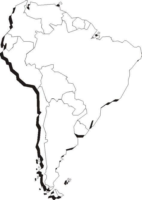 south america map outline blank print blank map of south america