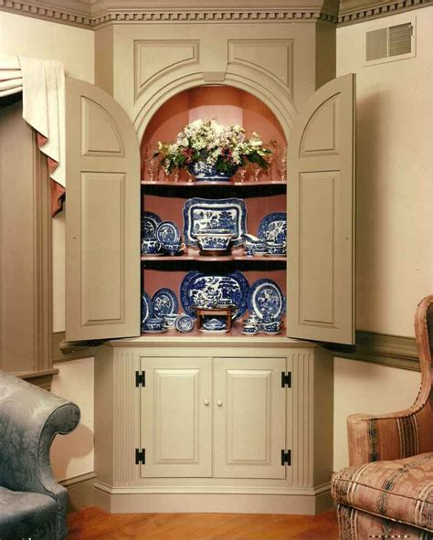 built in corner china cabinet built in corner china cabinet woodworking projects plans