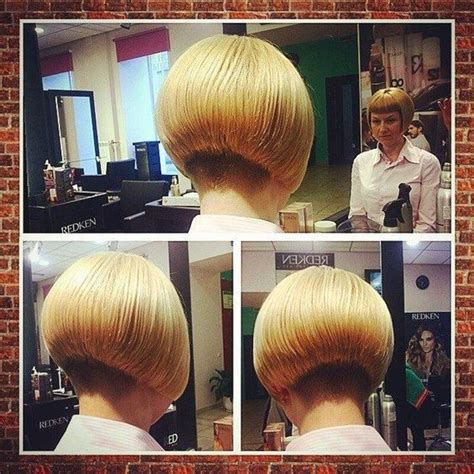 short hair with length at the nape of the neck short chin length aline bob with short nape undercut