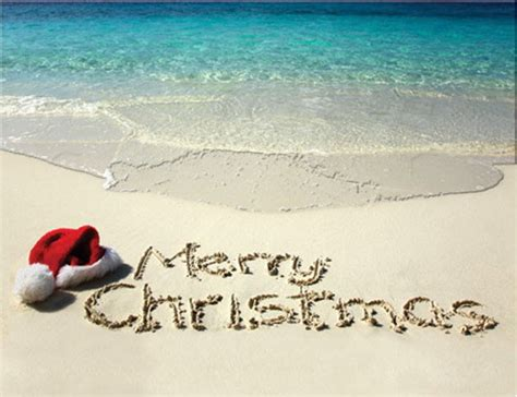 merry christmas beach cards    shipping   latitude  clothing company