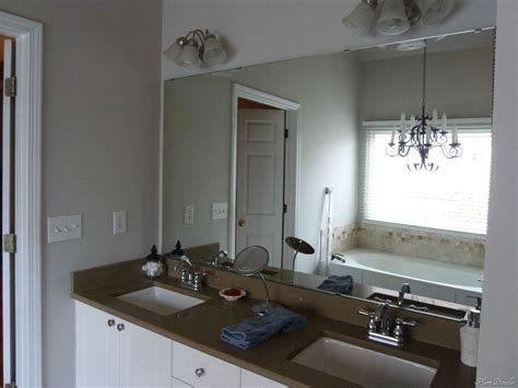 Frame Bathroom Mirror With Moulding by Diy Framed Mirror Using Standard Moldings Frame Bathroom