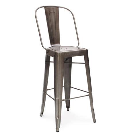 tolix metal bar stools gunmetal 65cm tolix style metal bar stool with high back
