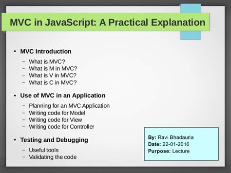Mvc Layout Javascript | mvc design pattern in javascript by admec multimedia institute