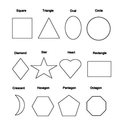 Basic Shapes Coloring Pages free coloring pages of different shapes