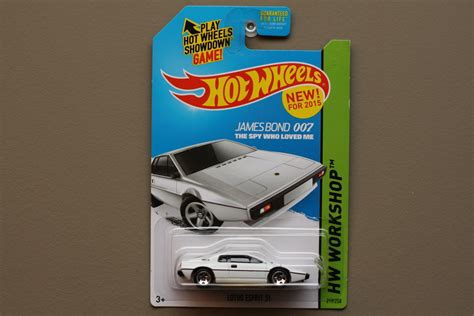 Hotwheels Lotus Jamesbond wheels 2015 hw workshop lotus esprit s1 white