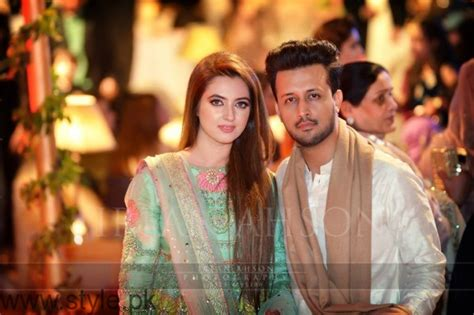 atif aslam wife atif alsam with his wife at a wedding ceremony in lahore