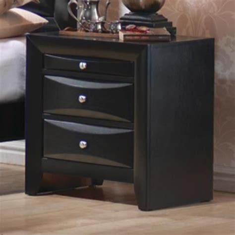 Black Wood Nightstand Coaster 200702 Black Wood Nightstand A Sofa Furniture Outlet Los Angeles Ca