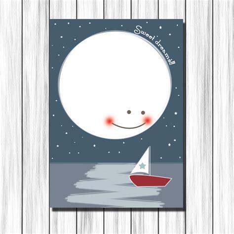 cuadros habitaciones ni os cuadro infantil luna y barca para decoraci 243 n habitaci 243 n