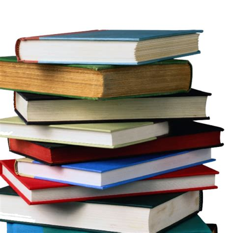 Book Stack cropped book stack png