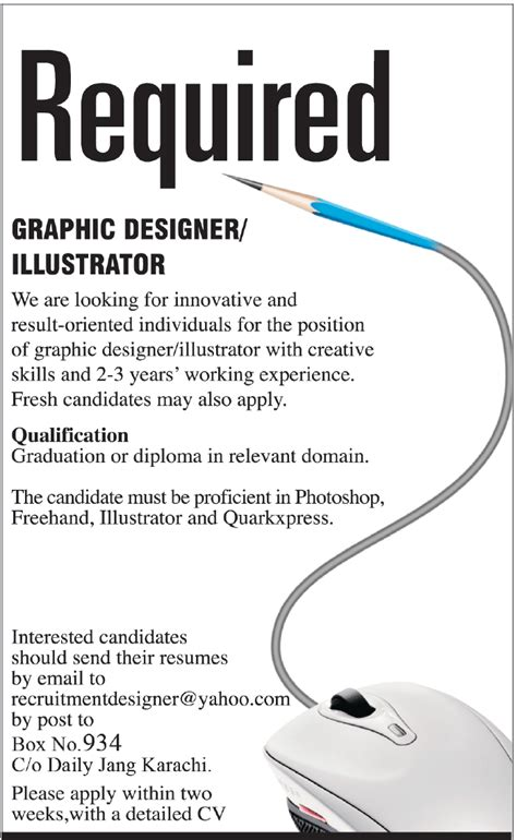 graphic design visual communication jobs graphic designer illustrator jobs in karachi in karachi