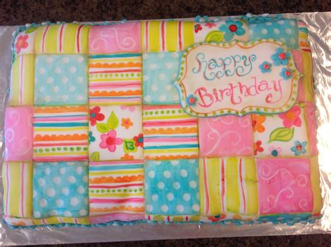 quilt themed birthday cakes quilt birthday cake inspired by riley blake fabric cakes