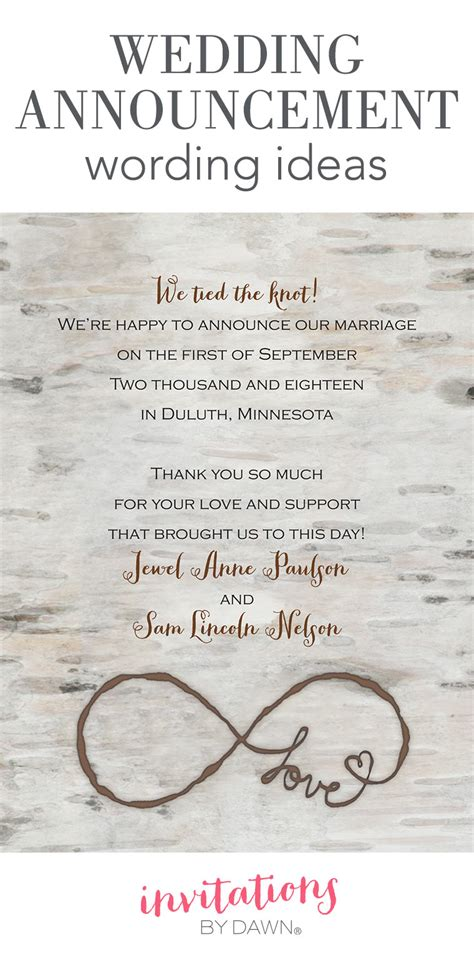 Wedding Announcement Cards by Wedding Announcement Wording Invitations By