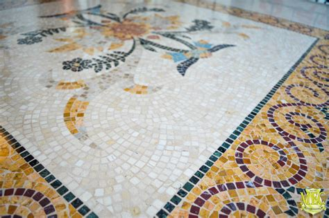 Handmade Mosaic - design with glass mosaic and marble mosaic tiles handmade