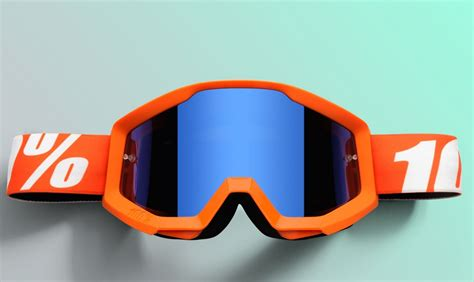 100 motocross goggles 100 percent strata orange blue tinted goggles at mxstore
