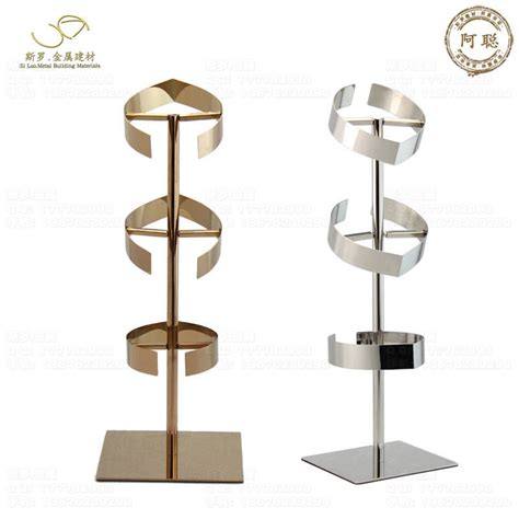 shiny collar display stand bow tie display rack for