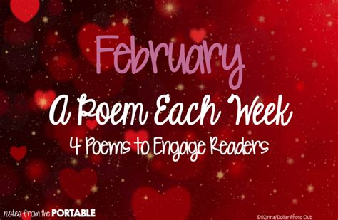 11 feb day week february a poem each week freebie notes from the portable