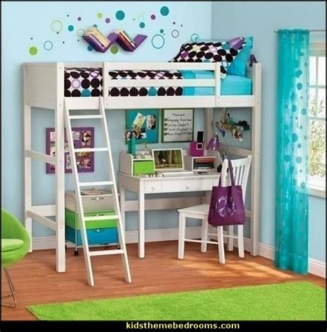 White twin wood wooden loft style bunk bed