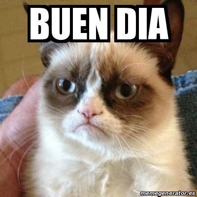 Buen Dia Meme - meme grumpy cat buen dia 15762119