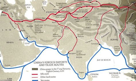 silk road map maps atlas silk road trade routes map