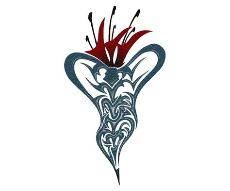 lily tribal tattoos clipart best