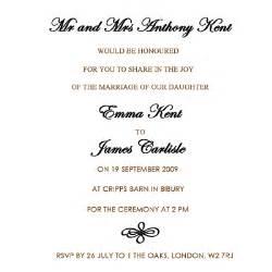 text for wedding invitation uk wedding invitation wording etiquette