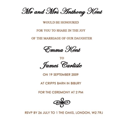 wedding invitation templates uk wedding invitation wording etiquette