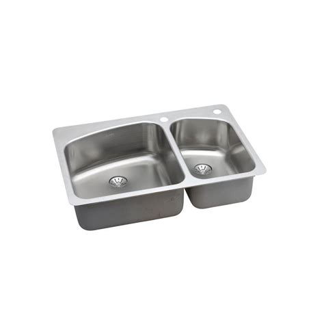 Elkay Perfect Drain Drop In Undermount Stainless Steel 33 Draining Kitchen Sink