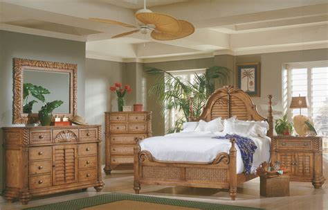 palm court island pine poster bedroom set 1416 60 61 77