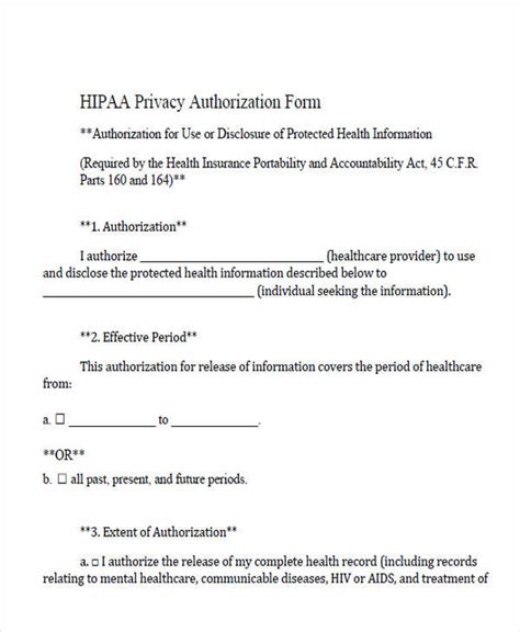 hipaa release form template forms in pdf