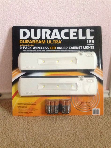 duracell led under cabinet light new duracell durabeam ultra 2 pack wireless led under