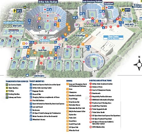 us open tennis map us open tennis tournament