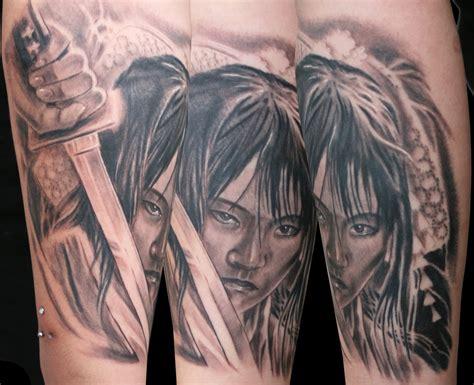 geisha tattoo with sword geisha sword by tattooneos on deviantart