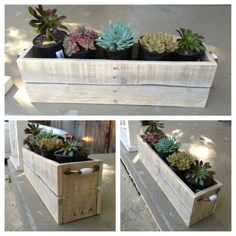 Planter Boxes Made From Pallets by Best 25 Pallet Planter Box Ideas On Single