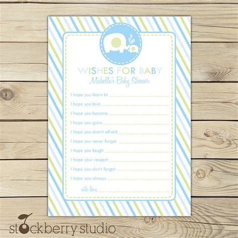 Wishes For Baby Boy Shower by 6 Best Images Of Printable Wishes For Baby Boy Printable