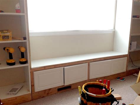 diy built in cabinets built in bookshelves with a window seat how to build a