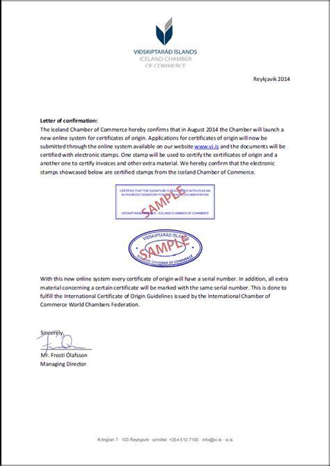 Confirmation Letter Um Sta 240 Festingarbr 233 F 225 Ensku Vi 240 Skiptar 225 240 205 Slands