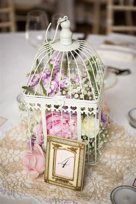 Vintage Wedding Centerpiece Ideas Pastel Flowers In Birdcage Centerpieces Weddings