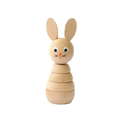 wooden toys leo bella wooden toys stacking rabbit