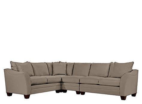foresthill sectional foresthill 4 pc microfiber sectional sofa mineral