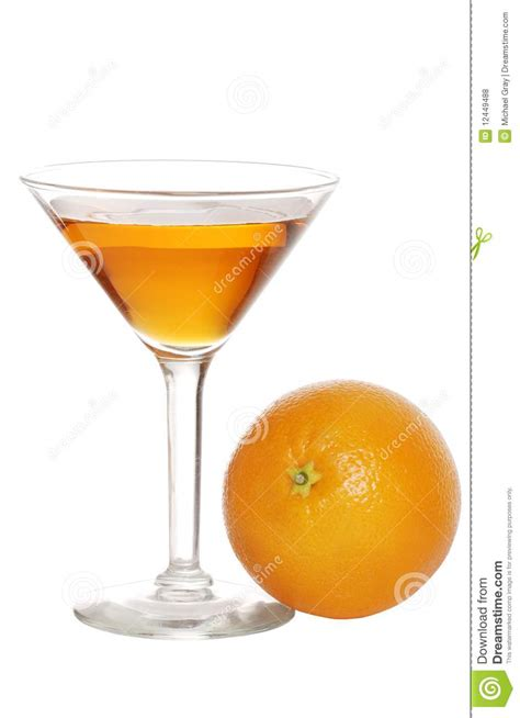 martini orange orange martini with fruit royalty free stock photos