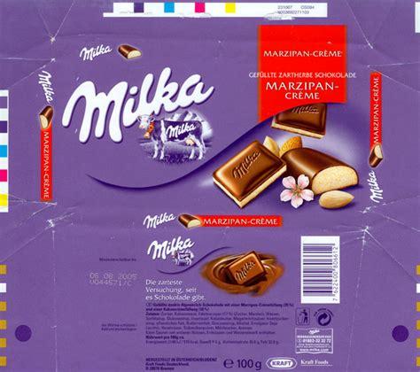 chocolate wrapper 2059 germany milka 2004