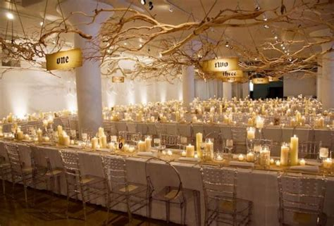 wedding reception decorations with candles rustic gaden in a ballroom weddingbee