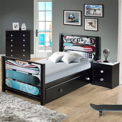 kmart trundle bed l powell kickflip trundle home furniture bedroom
