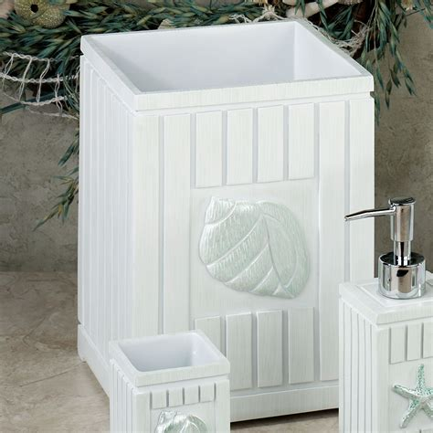Seaside Bathroom Accessories Seaside Seashell Coastal Bath Accessories