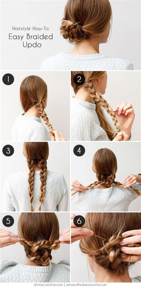 step by step easy updos for thin hair easy hairstyles for work for medium or long hair hair