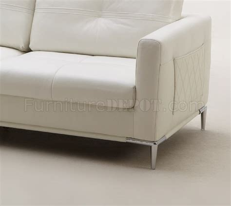 slim sectional sofa slim sectional sofa by beverly in white leather