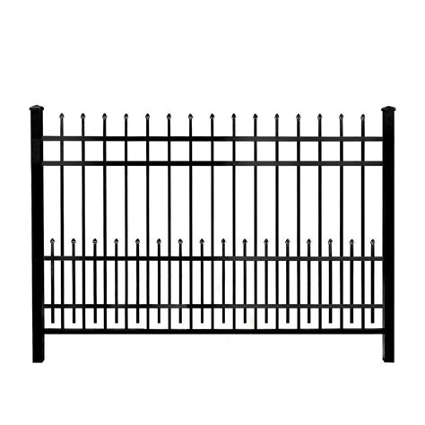 puppy guard fence mainstreet aluminum fence 3 4 in x 2 ft x 6 ft black aluminum fence puppy guard add