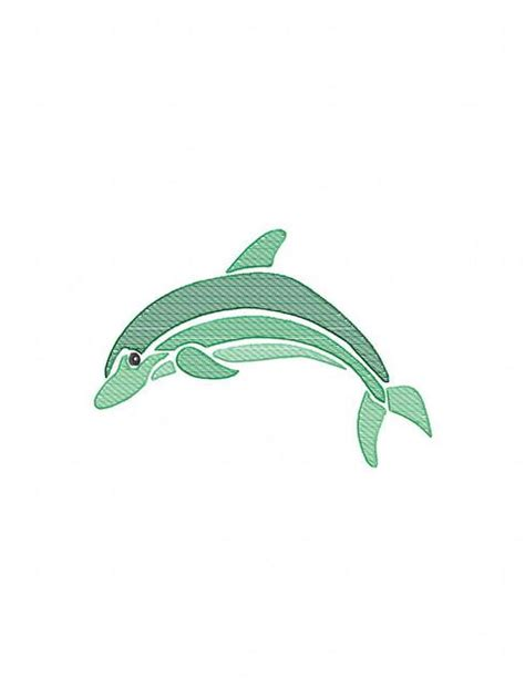 embroidery design dolphin dolphin color sketch embroidery design summer sketch